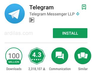 03 Telegram Playstore 100 juta - Apa Itu Aplikasi Telegram Messenger & Fitur Kelebihannya