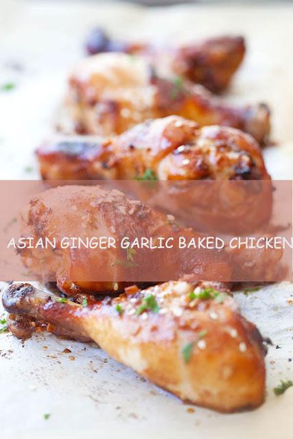 asian ginger garlic baked chicken