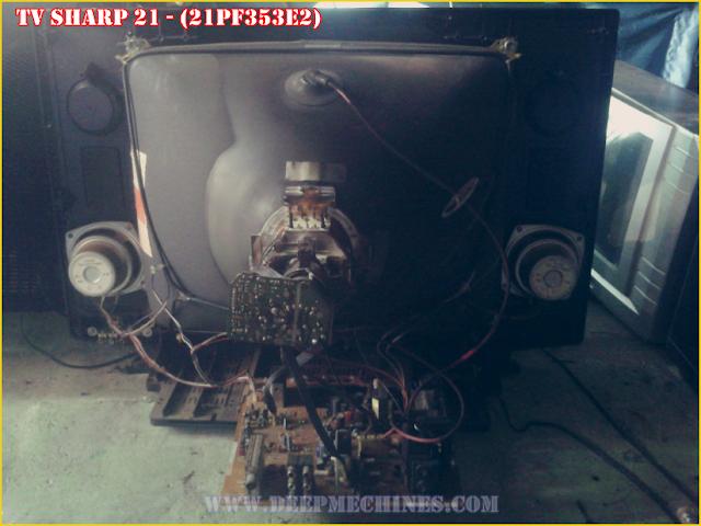 Perbaikan Kerusakan Standby TV SHARP 21 - (21PF353E2)