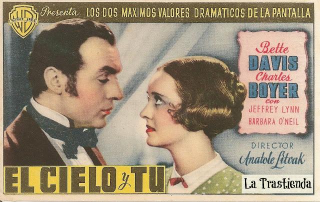 Programa de Cine - El Cielo y Tú (Sencillo) - Bette Davis - Charles Boyer