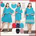 HNB185 Model Audy Dress Brokat Big Size Terusan BMG Shop