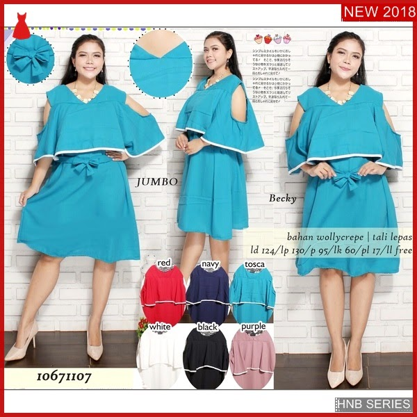 HNB185 Model Audy Dress Brokat Big Size Terusan BMG Shop