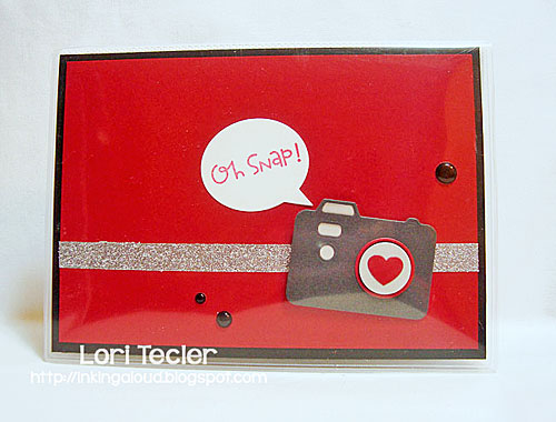 Oh Snap photo album cover-designed by Lori Tecler/Inking Aloud