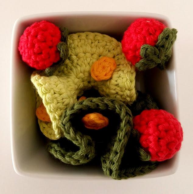 roti salade tomate cerise dinette au crochet tuto