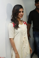 Samantha Ruth Prabhu Smiling Beauty in White Dress Launches VCare Clinic 15 June 2017 018.JPG