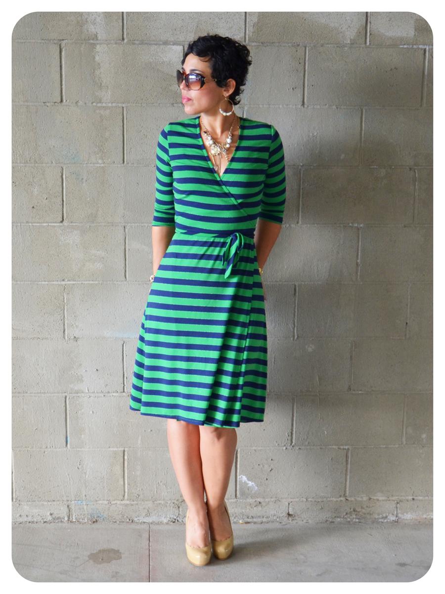 Ootd Diy Striped Wrap Dress Pattern Review Ks 3489