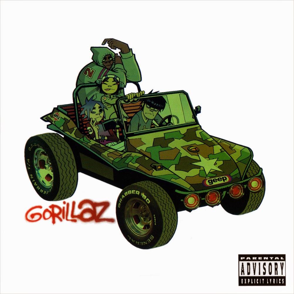portada disco Gorillaz 2001