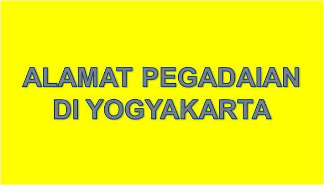 Alamat PT Pegadaian Di Yogyakarta