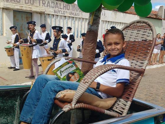 Estudante do município da Escola Maria Dalva se classifica para o final do Concurso Ler Bem