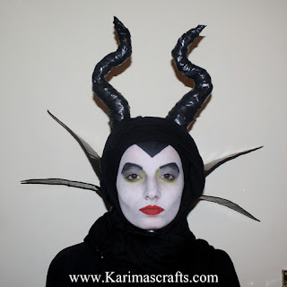 maleficent face paint painting costume