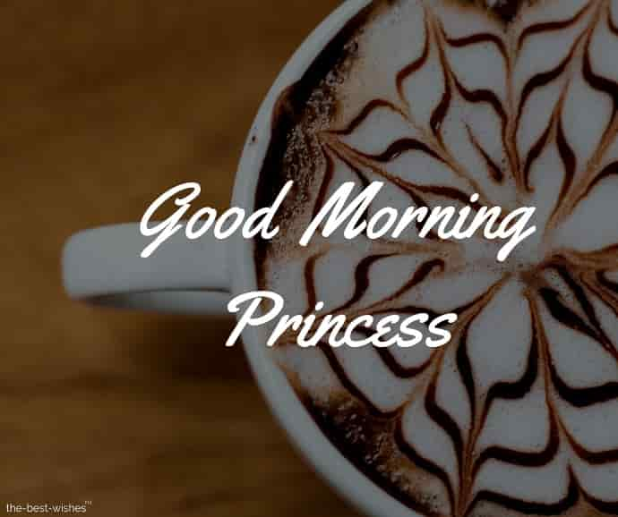 good morning princess coffee images