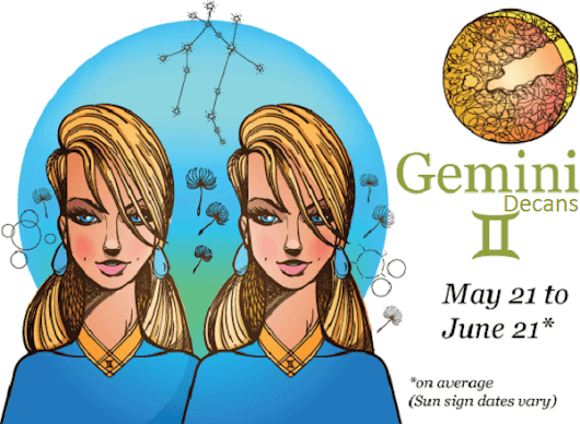 Gemini Decans and Personality Traits