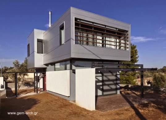 Casa bioclimática en Paiania cerca e Atenas en Grecia