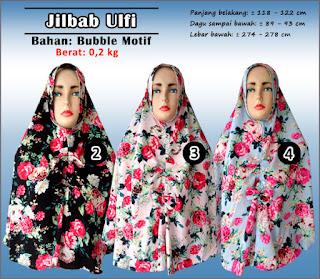 Model jilbab bubble terbaru dengan motif cantik