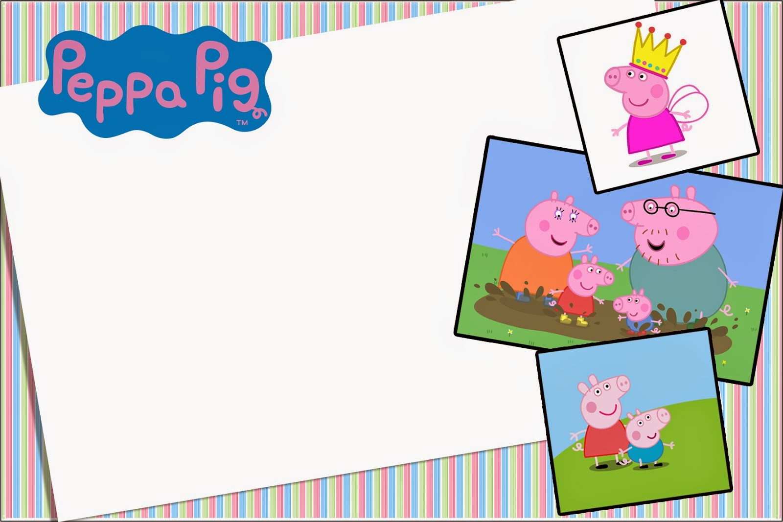 picture relating to Peppa Pig Printable Invitations named Peppa Pig: Free of charge Printable Invites and Social gathering Printables