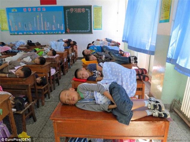 Sekolah SD di China Wajibkan Siswa Tidur Dalam Kelas