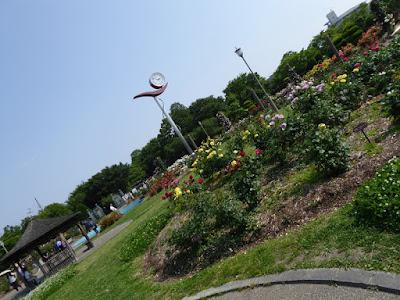 【大阪府茨木市】若園公園バラ園 時計
