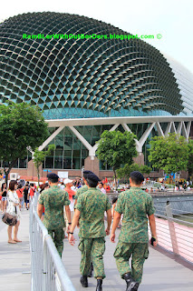army recruits, SG50 NDP, Marina Bay, Singapore