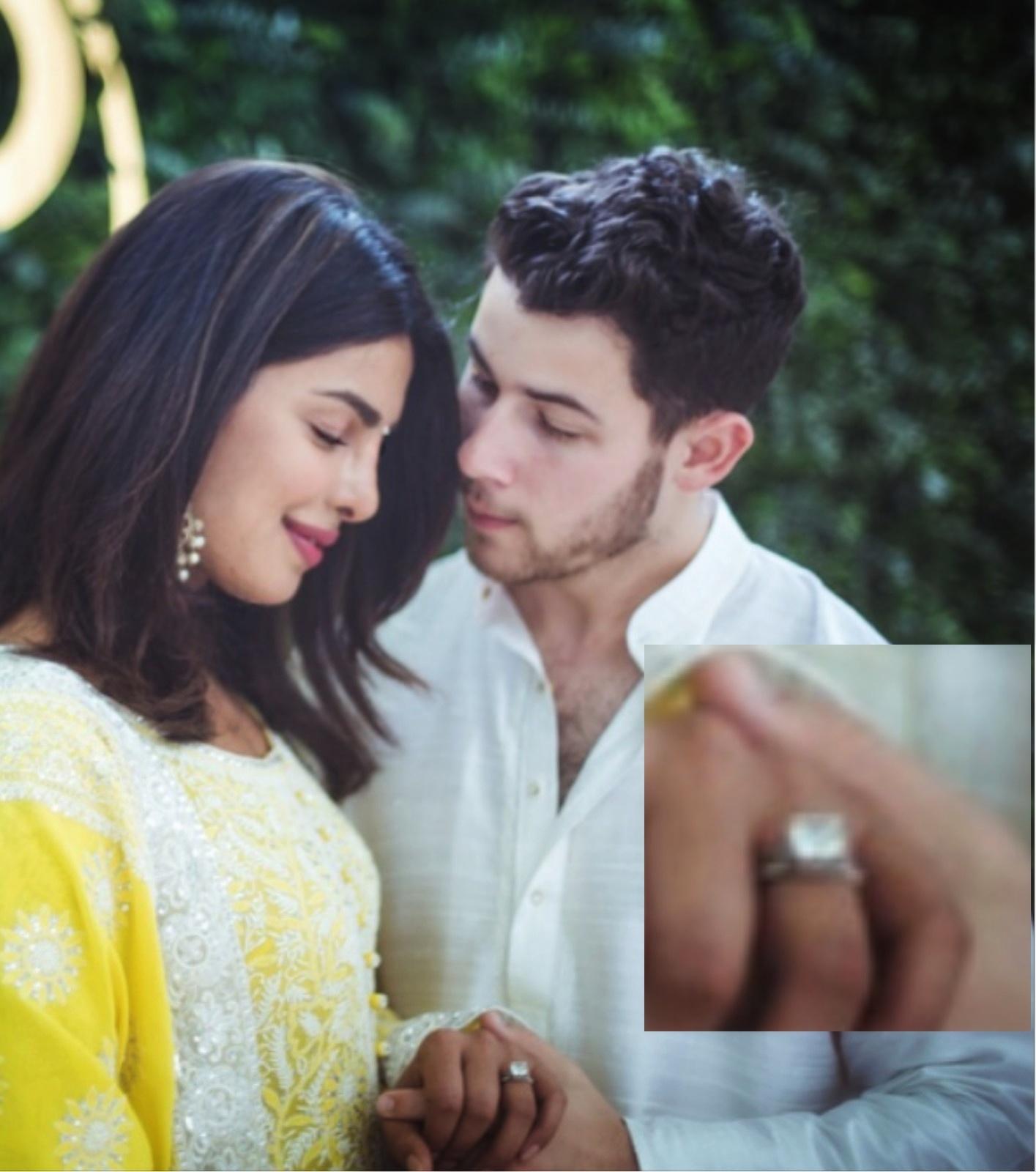 Priyanka Chopra Engagement Diamond Ring