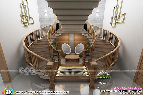 Bifurcated stair designs