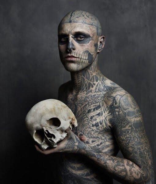 E' morto Rick Genest, il modello Zombie Boy di Lady Gaga.