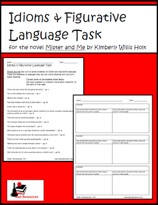 Free Mister and Me figurative language task from Raki's Rad Resources.