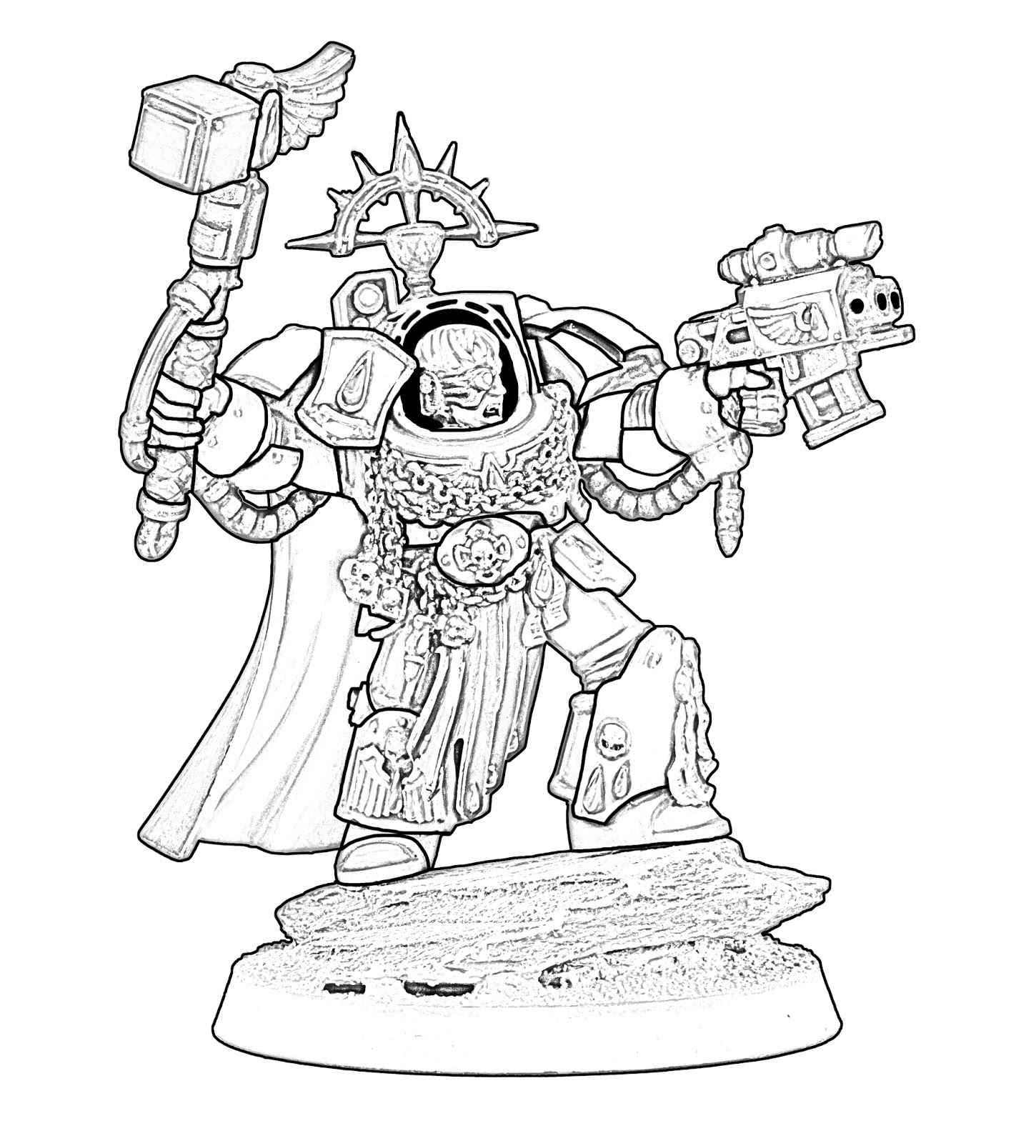 Warhammer 40k Coloring Pages Coloring Pages