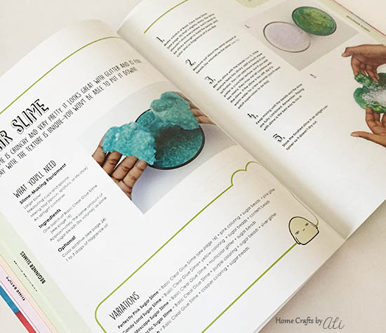 page from ultimate slime by alyssa jagan with instructions on how to make sugar slime in your home