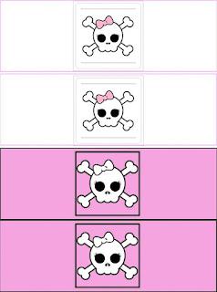 Etiquetas de Chica Pirata para imprimir gratis.
