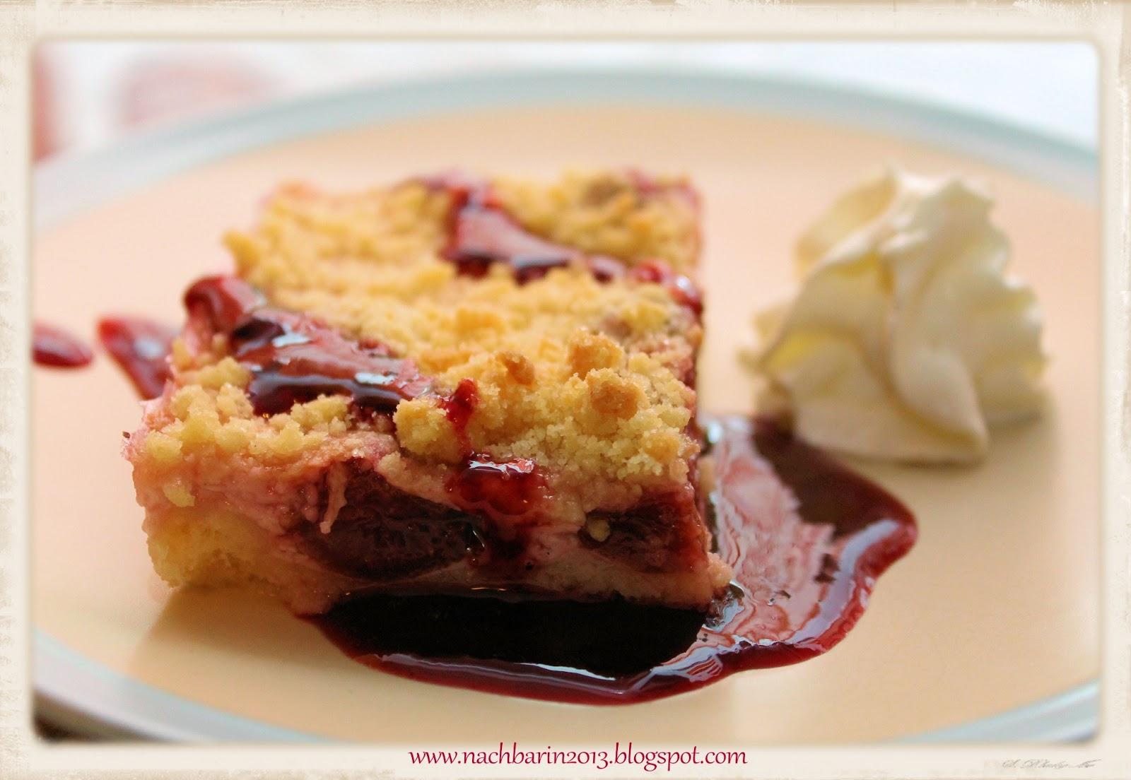 Die Lastige Nachbarin Rezept Kirschkuchen Mit Quark Blechkuchen
