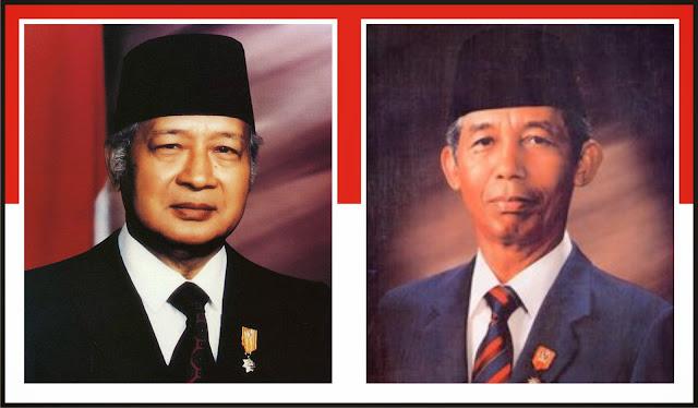 Gambar Presiden Soeharto dan Soedharmono