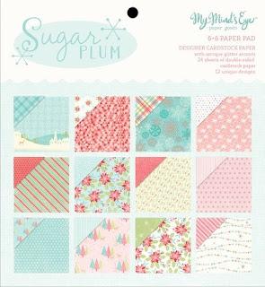 My Mind's Eye Sugar Plum 6 x 6 Paper Pad