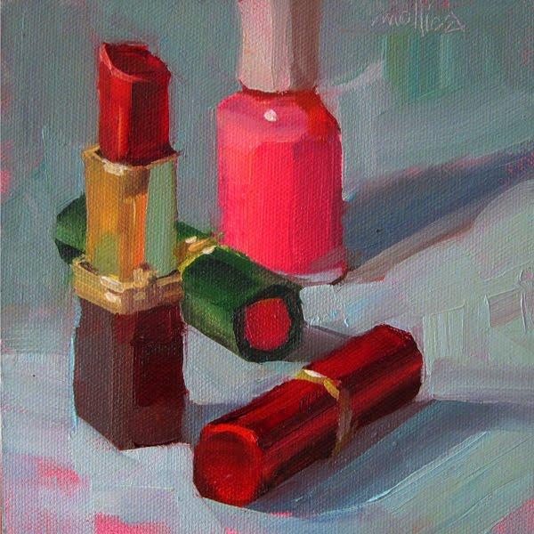 Long beautiful red fingernails - 3 1