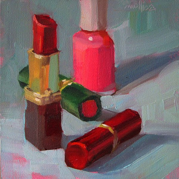 Lipstick Color Is Red Patti Mollica Paint Whatever Whenever Poppysilk Red