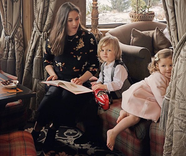 Tatiana Santo Domingo Casiraghi, Sasha Casiraghi and India Casiraghi attended a photo shoot for Baby Dior