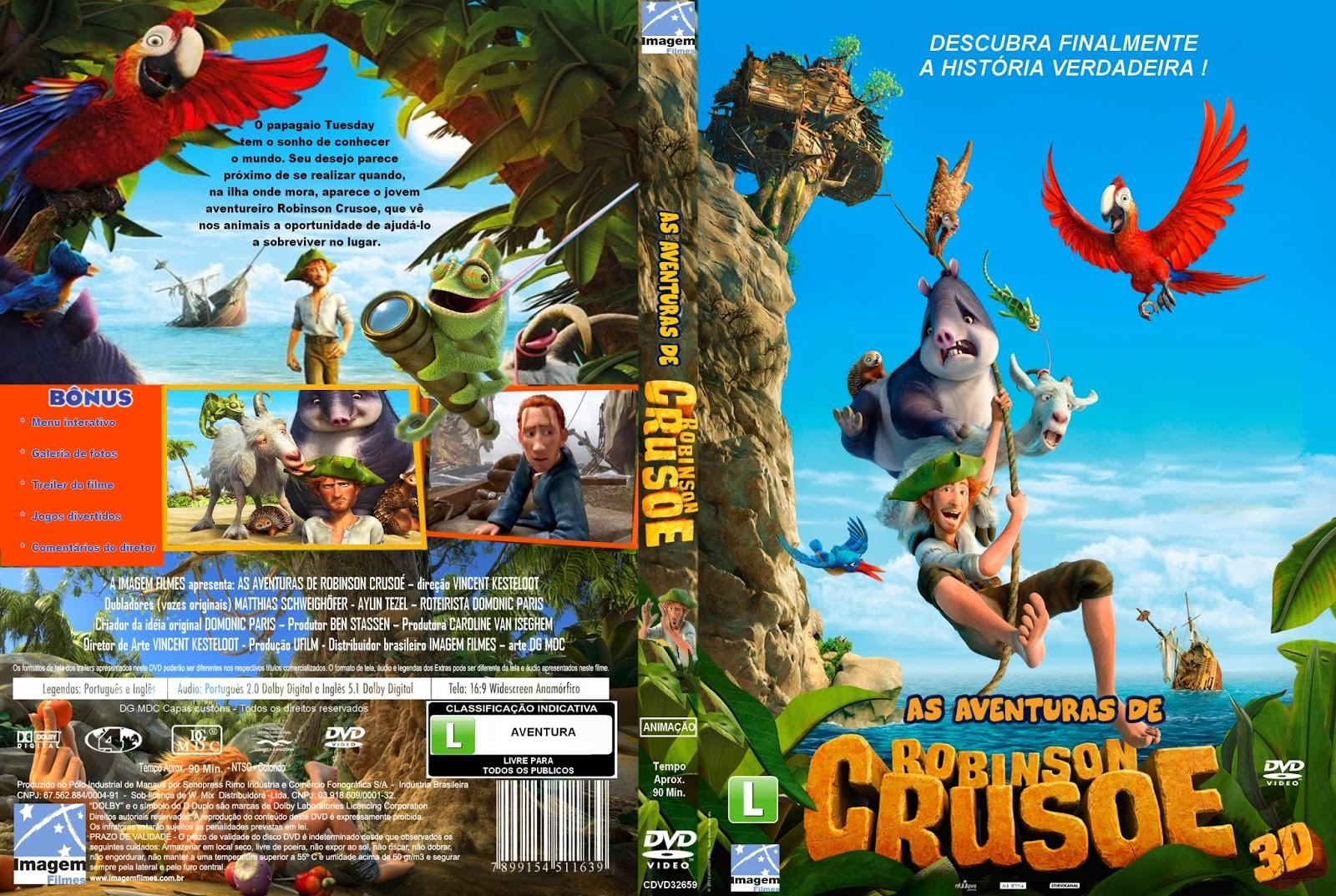 As Aventuras De Robinson Crusoe | Baixaki Capas
