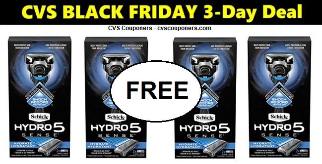 http://www.cvscouponers.com/2018/11/CVS-FREE-Schick-Hydro-Razor-1122-1124.html