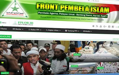 Pengakuan Mengejutkan FPI: Website Resmi DPP FPI Telah Dirampas
