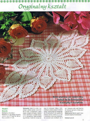 Centre de table au crochet