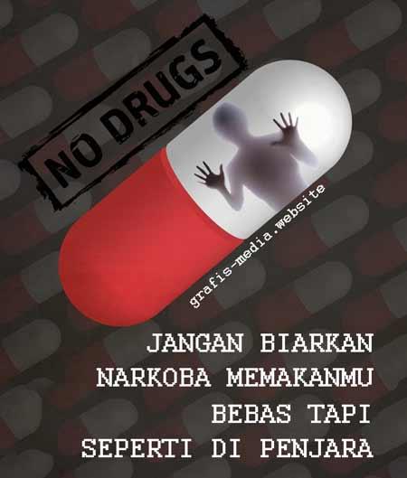 25 Contoh Poster Narkoba Dan Slogan Narkoba Kreatif Grafis Media