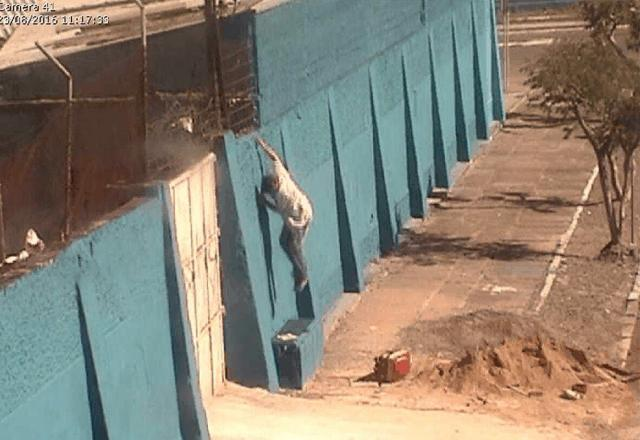 Câmeras flagram fuga de detento que é recapturado pela Guarda Civil Municipal de São Leopoldo (RS)