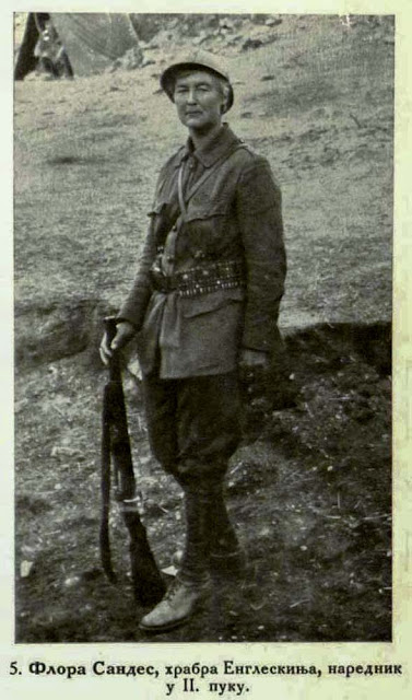 Flora Sandes, sergeant-major in the 2nd regiment, a brave English woman.