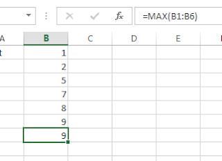 Microsoft Excel max formula