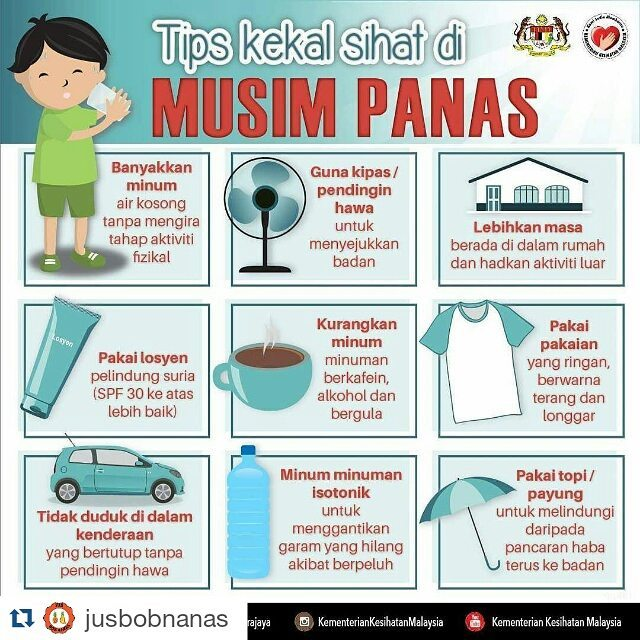 Wordless Wednesday # 604..Tips Sihat Musim Panas