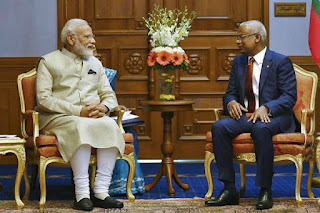 PM Modi conferred with 'Nishan Izzuddin'- Maldives' award