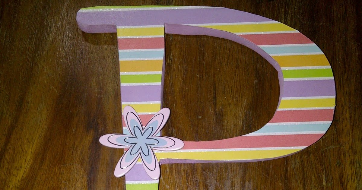 Decorate Wooden Letters Part II