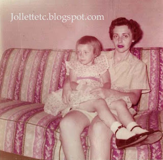 Wendy Slade and Mary Slade Easter 1955 https://jollettetc.blogspot.com