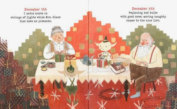Santa Clauses illustration picture book