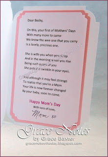 1st Mother's Day Card. Poem and design by Grace Baxter