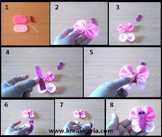 Tutorial membuat bross kupu-kupu dari bahan kain flanel